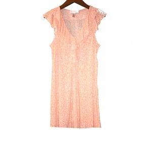 Oscar De La Renta pink label ruffle soft dress